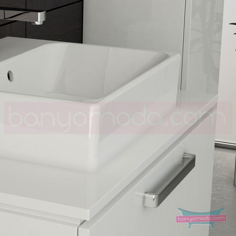 Vitra System Fit Geniş Lavabo Dolabı (Derin), 60 cm, Parlak Beyaz, Yuvarlak Hatlı Kulp - 53761 asma termoform kaplama kulplu yavaş kapanır çekmeceli vitra'nın tasarım ve teknoloji gücü banyo mobilyalarında sonsuz seçenek yaratıyor en uygun fiyatlarla Banyomoda'dan online satın alabilirsiniz.