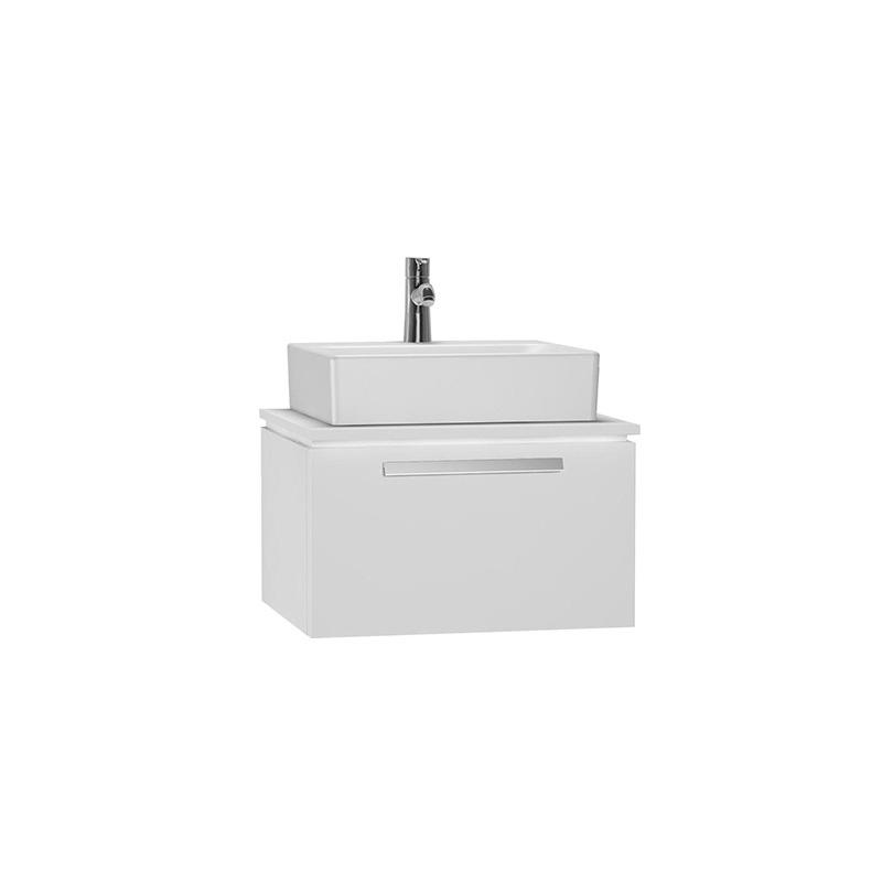 Vitra System Fit Geniş Lavabo Dolabı (Derin), 60 cm, Parlak Beyaz, Bar Kulp 53765 Lavabo Dolabı