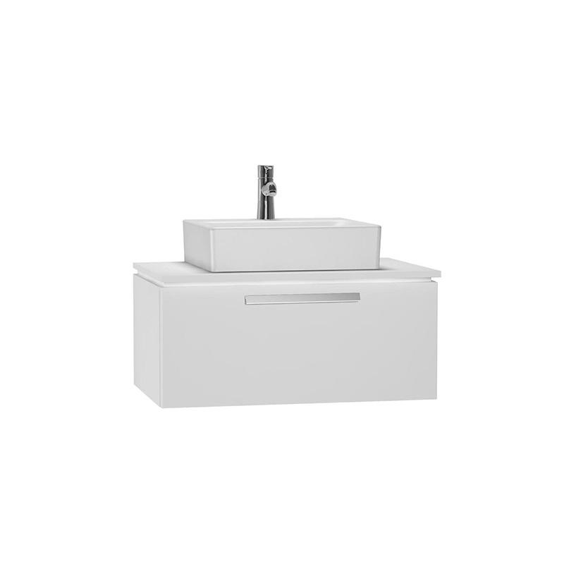 Vitra System Fit Geniş Lavabo Dolabı (Derin), 80 cm, Parlak Beyaz, Parlak Beyaz, Bar Kulp 53781 Lavabo Dolabı