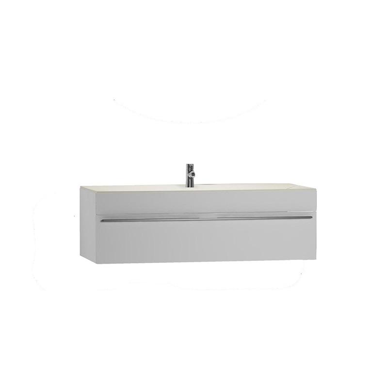 Vitra System Fit VS-75 Solidli Lavabo Dolabı Orta Hazneli, Parlak Beyaz, Bel Kulp 53905 Lavabo Dolabı