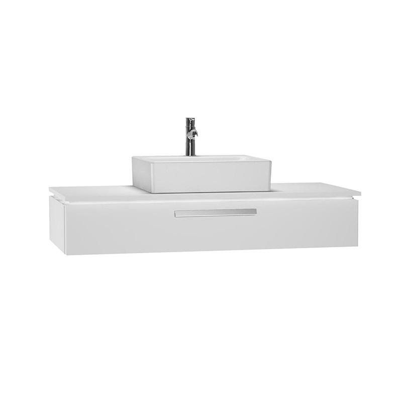 Vitra System Fit Geniş Lavabo Dolabı (Sığ), 120 cm, Parlak Beyaz, Bar Kulp 54222 Lavabo Dolabı