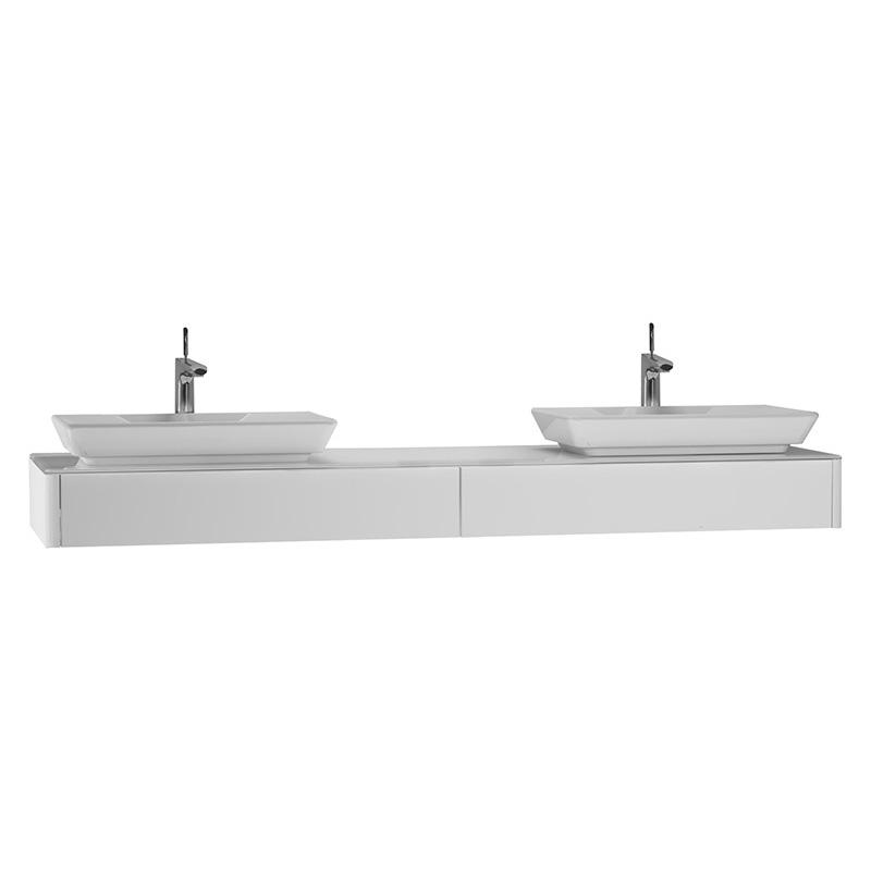 Vitra T4 Dar Tezgah Ünitesi, 180 cm, Parlak Beyaz 54597 Lavabo Dolabı