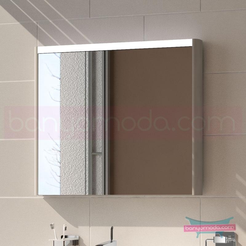 Vitra T4 Aydınlatmalı Ayna, 80 cm, Mat Beyaz 54647 Ayna / Dolaplı Ayna