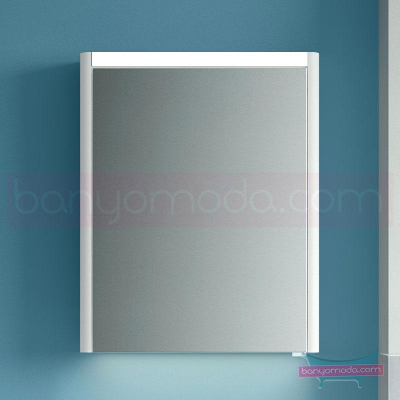 Vitra T4 Aydınlatmalı Dolaplı Ayna (Sol), 60 cm, Parlak beyaz - 54668 asma termoform kaplama yavaş kapanır sade ve ince görüntsünüyle banyonuza değer katan Noa tasarımlı mobilya en uygun fiyatlarla Banyomoda'dan online satın alabilirsiniz.