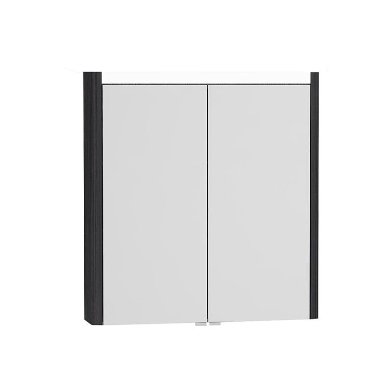 Vitra T4 Aydınlatmalı Dolaplı Ayna, 70 cm, Hasiente Siyah 54676 Ayna / Dolaplı Ayna