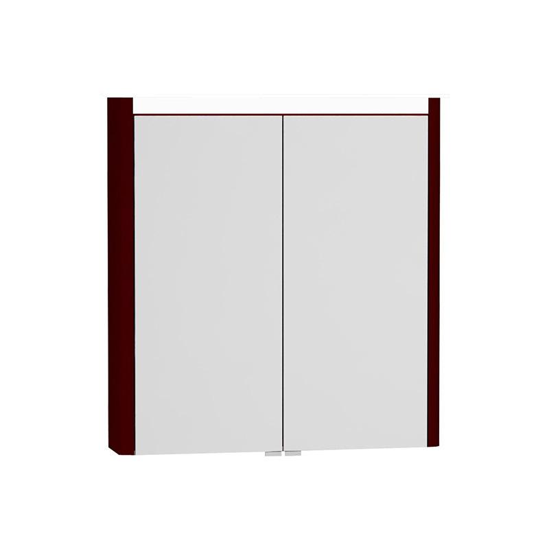 Vitra T4 Aydınlatmalı Dolaplı Ayna, 70 cm, Mat Bordo 54679 Ayna / Dolaplı Ayna