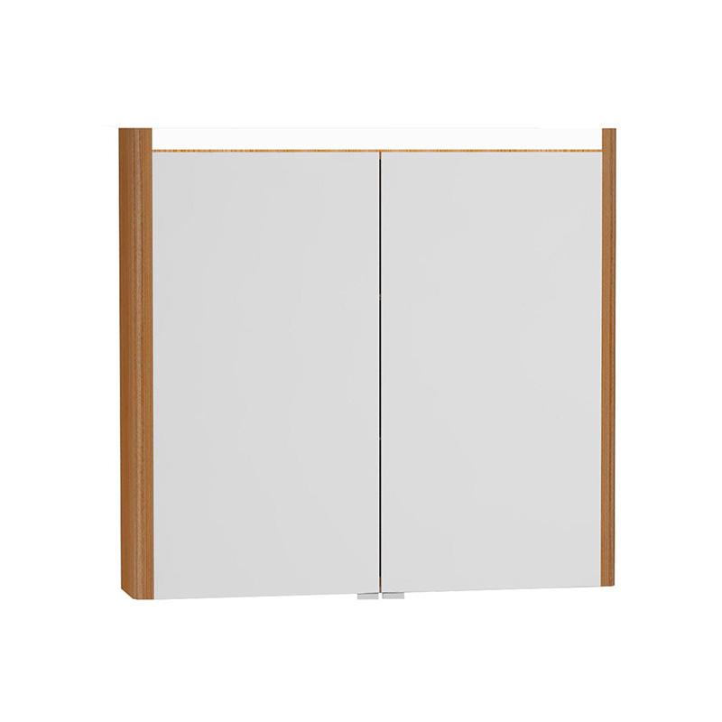 Vitra T4 Aydınlatmalı Dolaplı Ayna, 80 cm, Hasiente Kahve 54681 Ayna / Dolaplı Ayna