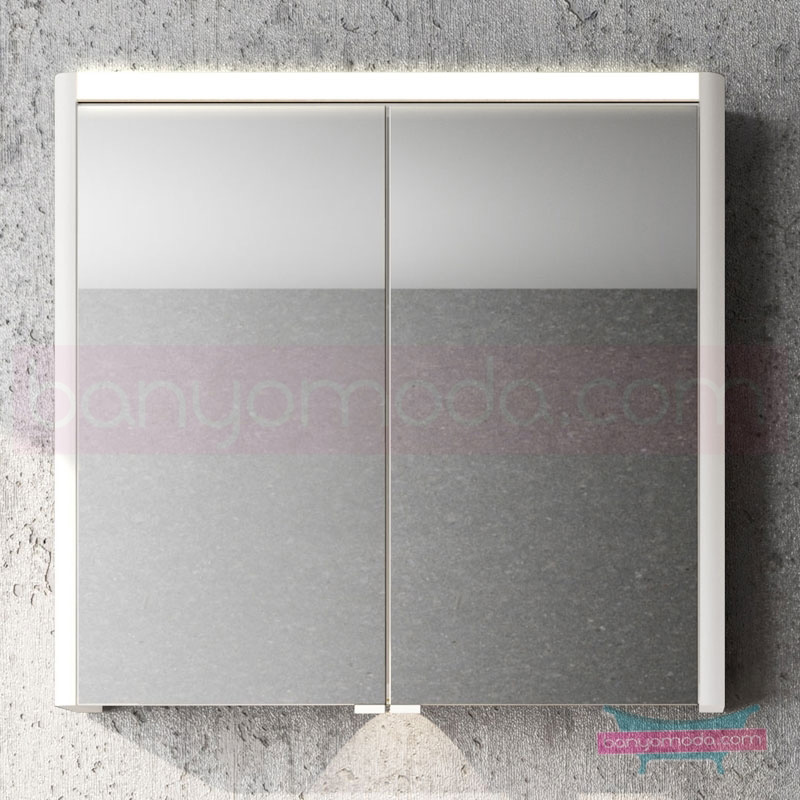 Vitra T4 Aydınlatmalı Dolaplı Ayna, 80 cm, Mat Beyaz 54683 Ayna / Dolaplı Ayna