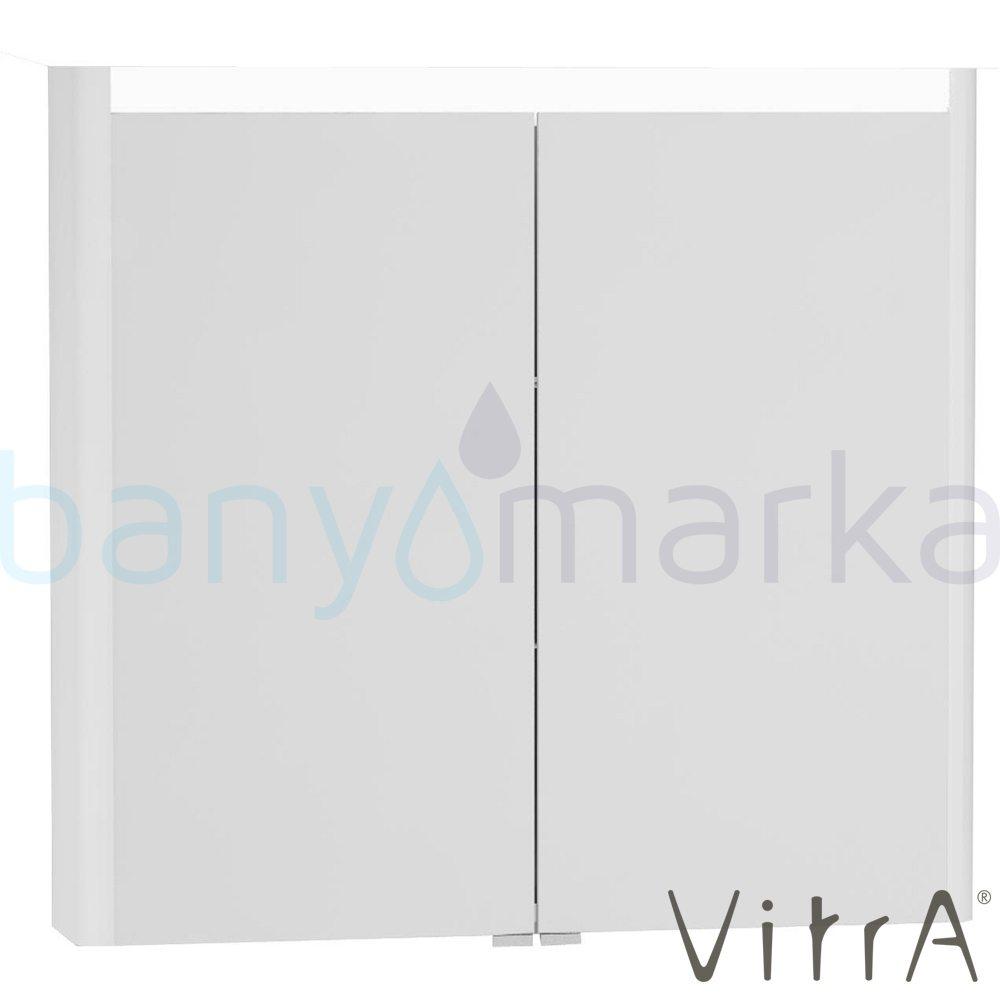 Vitra T4 Aydınlatmalı Dolaplı Ayna, 80 cm, Mat Beyaz - 54683 asma lake kaplama yavaş kapanır sade ve ince görüntsünüyle banyonuza değer katan Noa tasarımlı mobilya en uygun fiyatlarla Banyomoda'dan online satın alabilirsiniz.