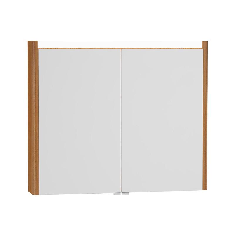 Vitra T4 Aydınlatmalı Dolaplı Ayna, 90 cm, Hasiente Kahve 54687 Ayna / Dolaplı Ayna