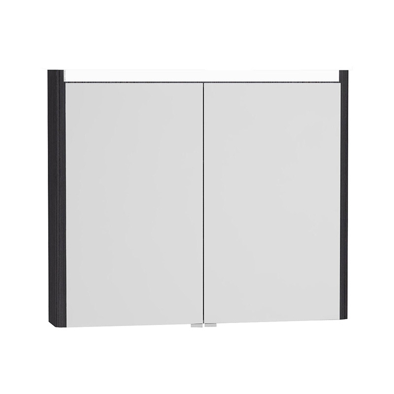 Vitra T4 Aydınlatmalı Dolaplı Ayna, 90 cm, Hasiente Siyah 54688 Ayna / Dolaplı Ayna