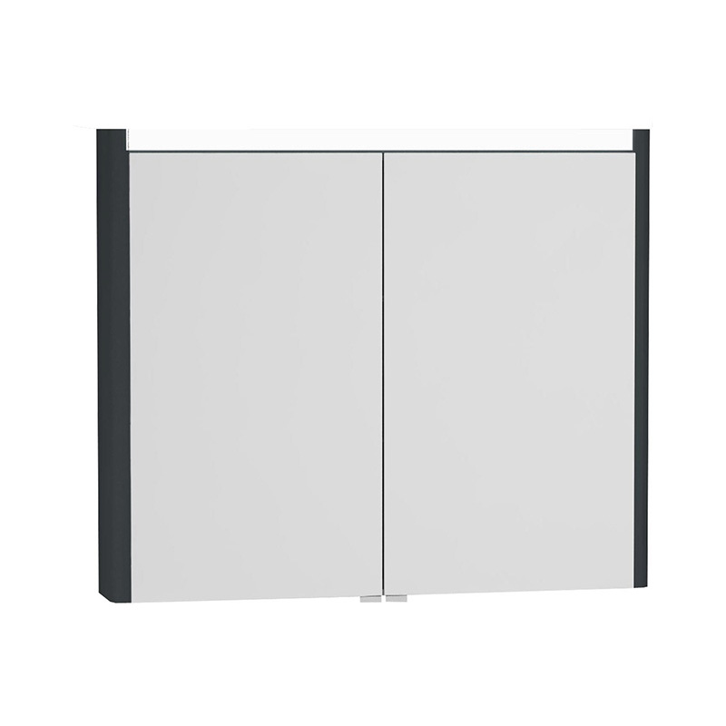 Vitra T4 Aydınlatmalı Dolaplı Ayna, 90 cm, Mat Gri 54690 Ayna / Dolaplı Ayna