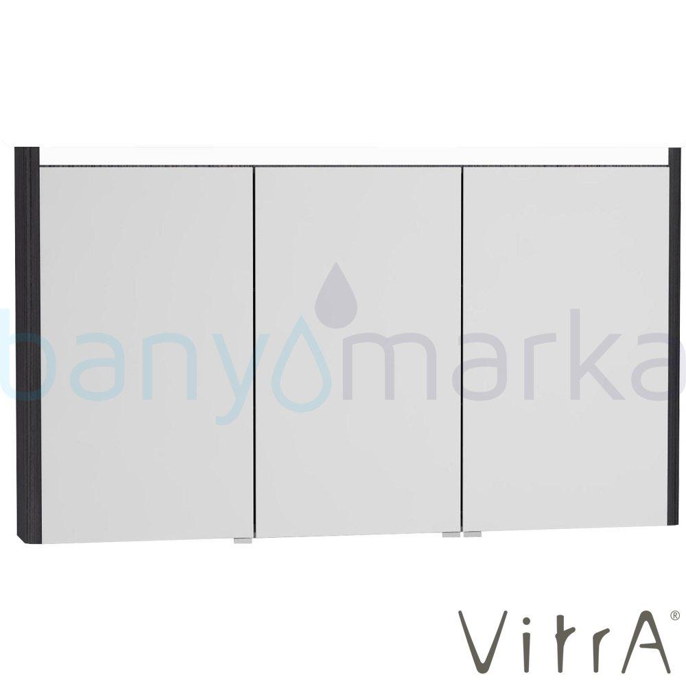 Vitra T4 Aydınlatmalı Dolaplı Ayna, 130 cm, Hasiente Siyah 54694 Ayna / Dolaplı Ayna