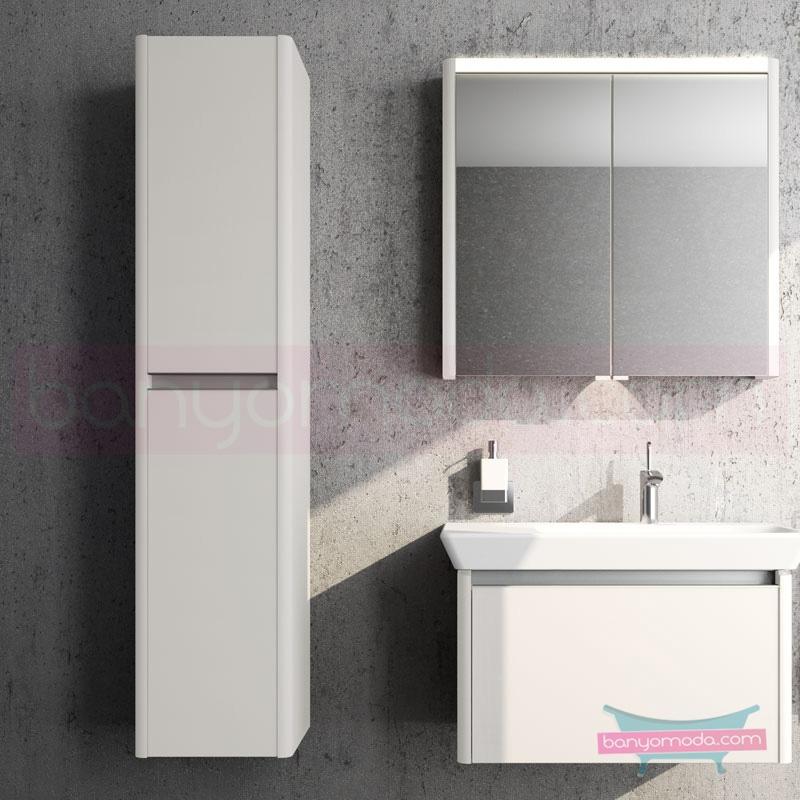 Vitra T4 Boy Dolabı (Sol), Parlak Beyaz - 54710 asma termoform kaplama yavaş kapanır sade ve ince görüntsünüyle banyonuza değer katan Noa tasarımlı mobilya en uygun fiyatlarla Banyomoda'dan online satın alabilirsiniz.