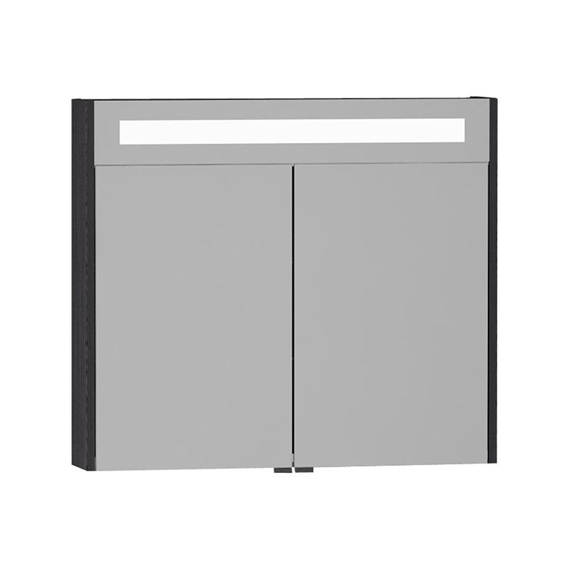 Vitra S50+ Aydınlatmalı Dolaplı Ayna, 80 cm, Hasiente Siyah 54761 Ayna / Dolaplı Ayna