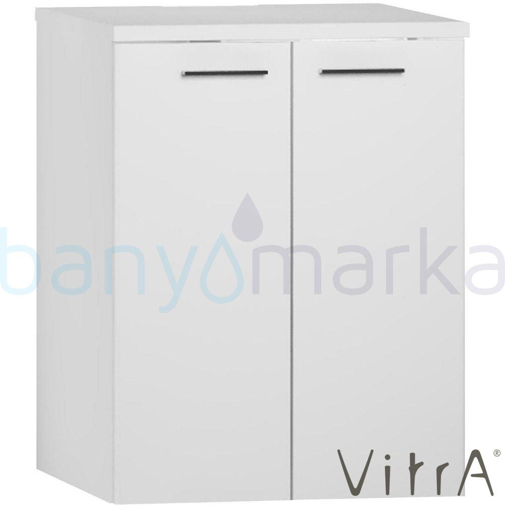 Vitra S20 Çamaşır Makinesi Dolabı U-Oyuklu, Parlak Beyaz 54807 Çamaşır Makinesi Dolabı