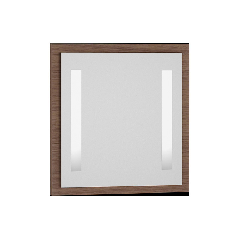 Vitra Espace Aydınlatmalı Ayna, 75 cm, Koyu Meşe 54926 Ayna / Dolaplı Ayna