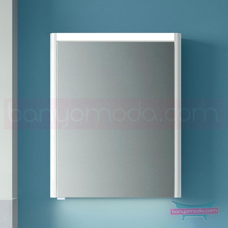 Vitra T4 Aydınlatmalı Dolaplı Ayna (Sağ), 60 cm, Mat Beyaz 54956 Ayna / Dolaplı Ayna