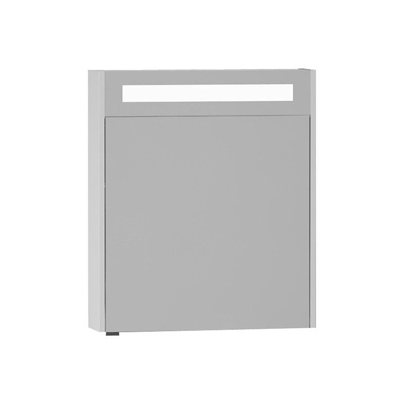 Vitra S50+ Aydınlatmalı Dolaplı Ayna (Sağ), 60 cm, Parlak Beyaz 54959 Ayna / Dolaplı Ayna