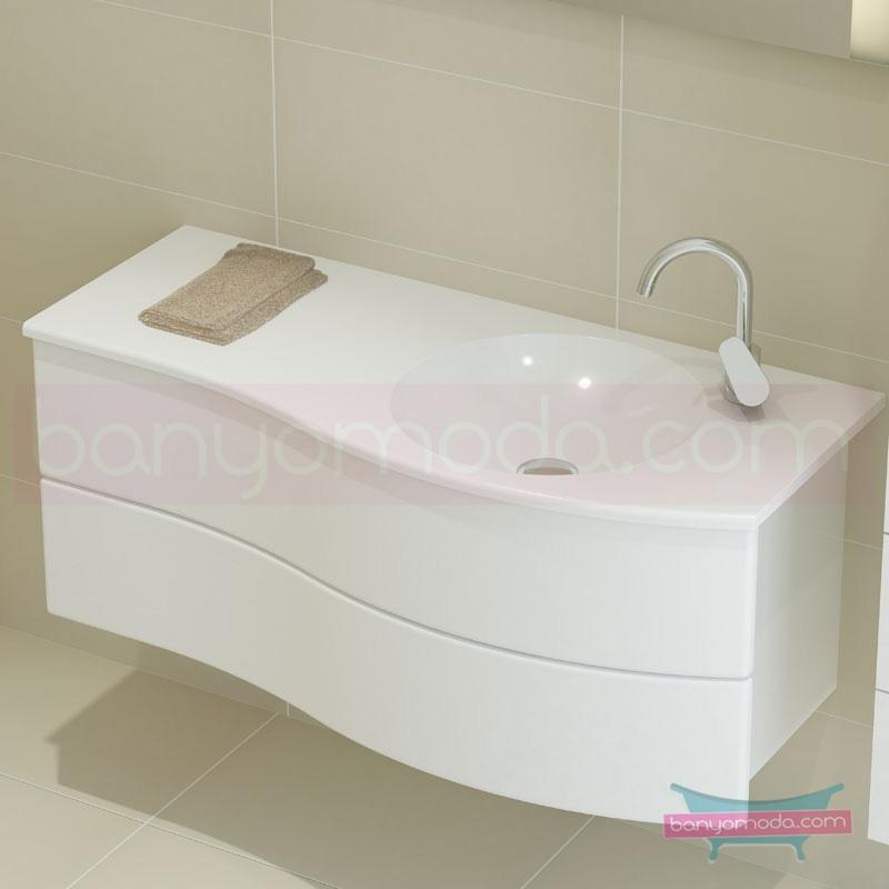 Vitra Aqua Lavabo Dolabı (Sağ), 100 cm, Parlak Beyaz - 54967 asma termoform kaplama yavaş kapanır kulpsuz çekmeceli dalgalı formu ve geniş saklama alanı sunan banyo mobilyası en uygun fiyatlarla Banyomoda'dan online satın alabilirsiniz.