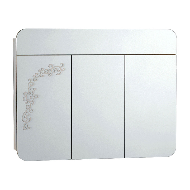 Vitra Gala Classic Desenli Aydınlatmalı Dolaplı Ayna, 100 cm Parlak Bej 55174 Ayna / Dolaplı Ayna