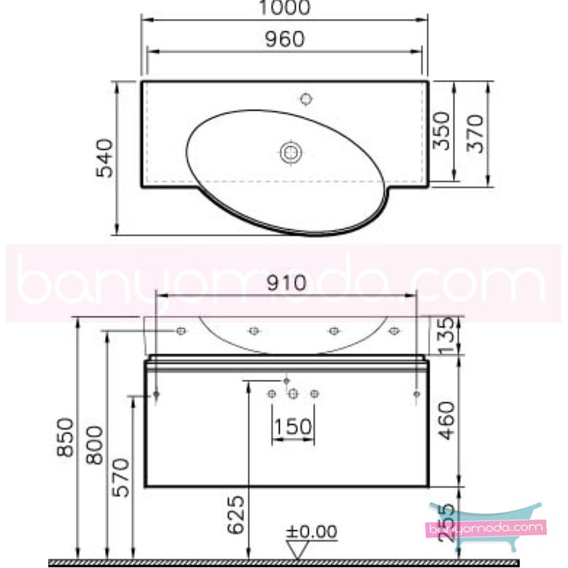 Vitra Espace Lavabo Dolabı, 100 cm, Kızıl Ceviz (Lavabo Dahil) - 51217 asma doğal kaplama kulplu yavaş kapanır tam açılır çekmeceli kübik hacimlerin  yuvarlak formlarla iç içe geçtiği esnek tasarımlı banyo mobilyası en uygun fiyatlarla Banyomoda'dan online satın alabilirsiniz.