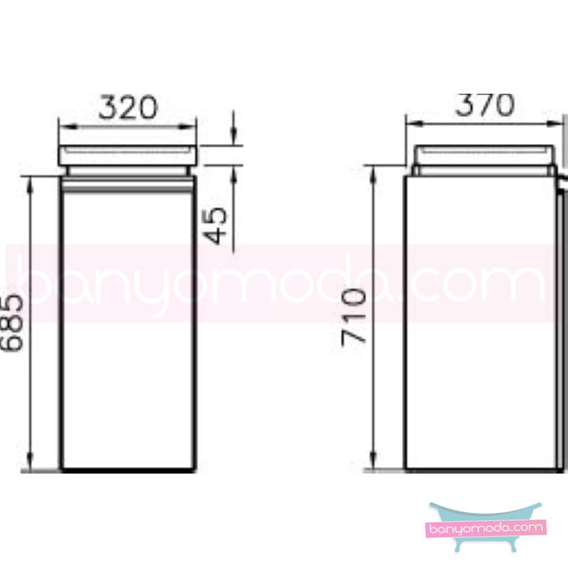 Vitra Espace Tekerlekli Ünite, Kızıl Ceviz - 51220 asma doğal kaplama kulplu yavaş kapanır kübik hacimlerin  yuvarlak formlarla iç içe geçtiği esnek tasarımlı banyo mobilyası en uygun fiyatlarla Banyomoda'dan online satın alabilirsiniz.