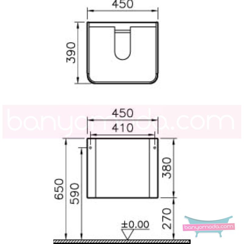 Vitra Mod Lavabo Dolabı, 45 cm, Parlak Beyaz - 51966 asma lake kaplama yavaş kapanır kulpsuz çekmeceli modern tasarımı zarafetle bütünleyen Ross Lovegrove un çok özel koleksiyonudan en uygun fiyatlarla Banyomoda'dan online satın alabilirsiniz.