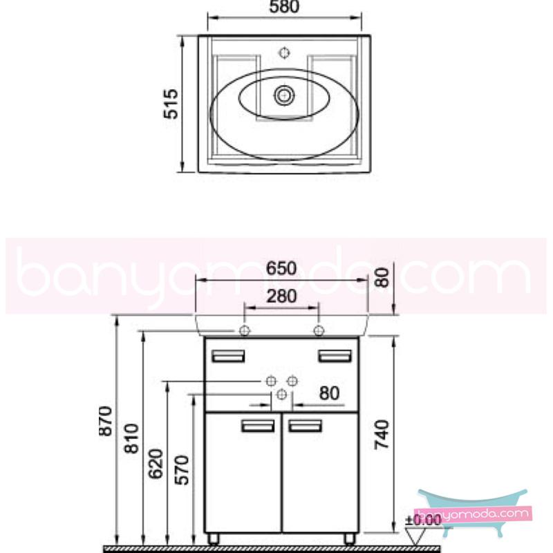 Vitra Form 500+ Lavabo Dolabı, 65 cm, Beyaz (Lavabo Dahil) - 52101 yerden termoform kaplama kulplu yavaş kapanır kulplu yavaş kapanır çekmeceli farklı ölçülerdeki depolama üniteleri sayesinde, özellikle aile banyolarına yönelik ideal bir çözüm en uygun fiyatlarla Banyomoda'dan online satın alabilirsiniz.