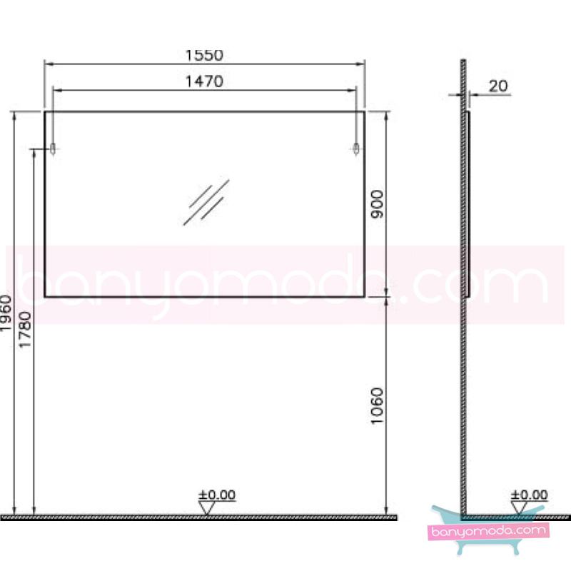 Vitra Form 500+ Ayna, 155 cm, Beyaz - 52121 asma farklı ölçülerdeki depolama üniteleri sayesinde, özellikle aile banyolarına yönelik ideal bir çözüm en uygun fiyatlarla Banyomoda'dan online satın alabilirsiniz.