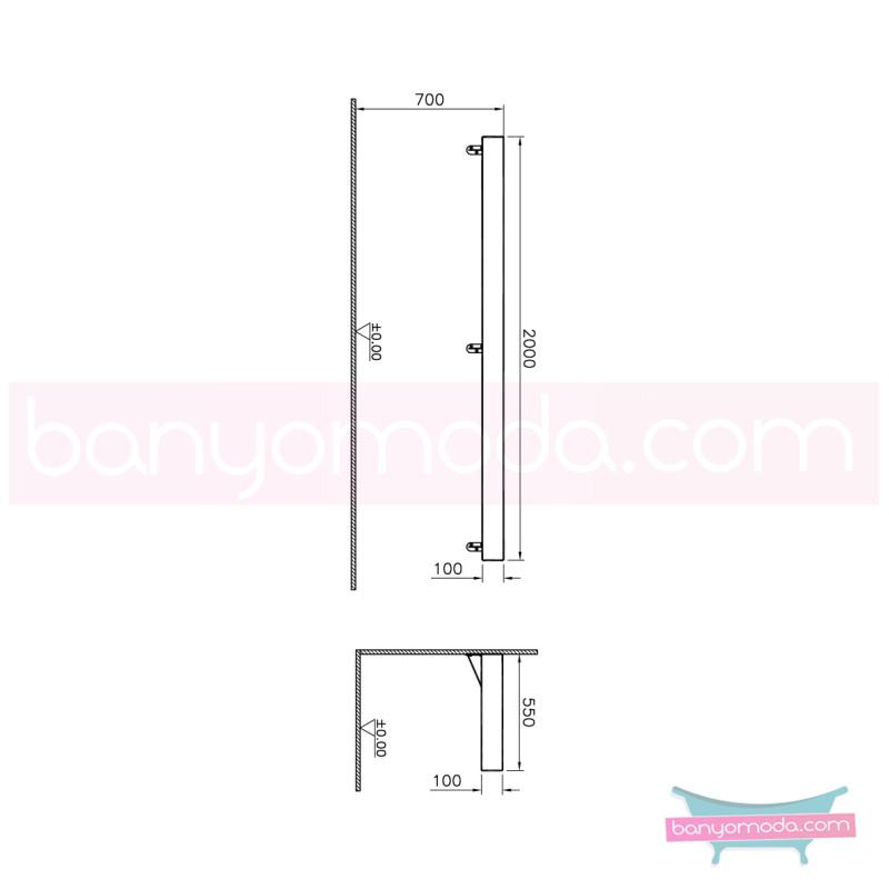 Vitra Options Lux Tezgah, 200 cm, Amerikan Ceviz - 52230 asma doğal kaplama estetiğin en yalın ve çarpıcı hali her boyutta banyoya uygun mobilya en uygun fiyatlarla Banyomoda'dan online satın alabilirsiniz.
