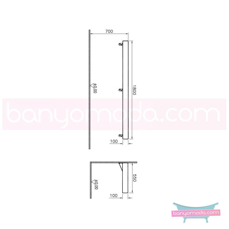 Vitra Options Lux Tezgah, 180 cm, Amerikan Ceviz - 52231 asma doğal kaplama estetiğin en yalın ve çarpıcı hali her boyutta banyoya uygun mobilya en uygun fiyatlarla Banyomoda'dan online satın alabilirsiniz.
