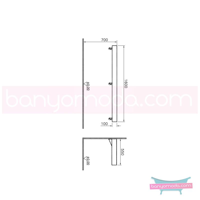 Vitra Options Lux Tezgah, 160 cm, Amerikan Ceviz - 52232 asma doğal kaplama estetiğin en yalın ve çarpıcı hali her boyutta banyoya uygun mobilya en uygun fiyatlarla Banyomoda'dan online satın alabilirsiniz.