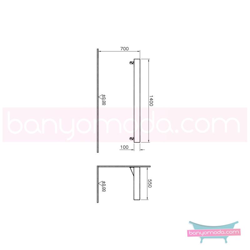 Vitra Options Lux Tezgah, 140 cm, Amerikan Ceviz - 52233 asma doğal kaplama estetiğin en yalın ve çarpıcı hali her boyutta banyoya uygun mobilya en uygun fiyatlarla Banyomoda'dan online satın alabilirsiniz.
