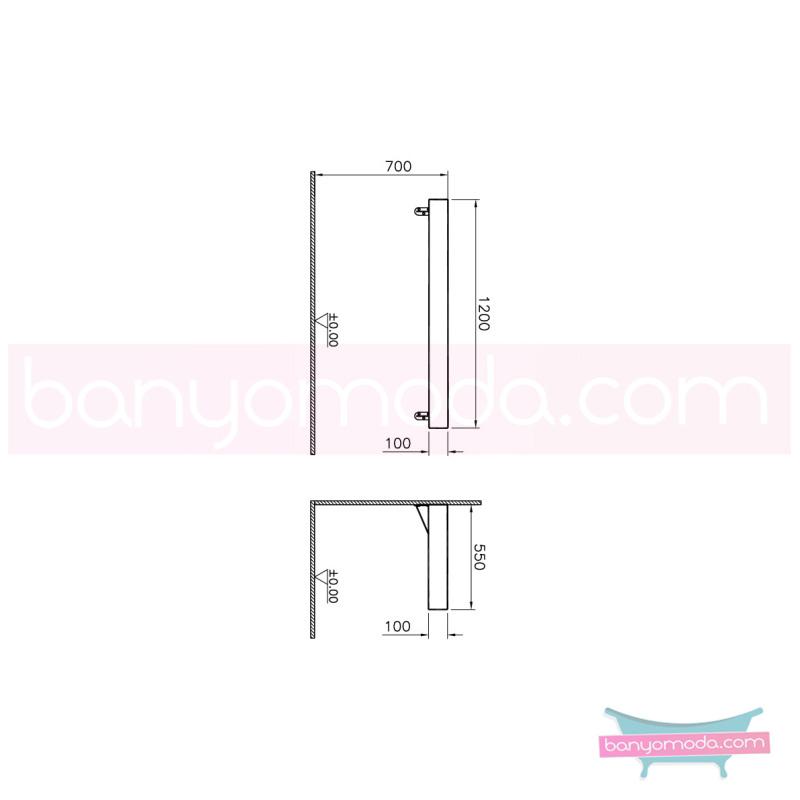 Vitra Options Lux Tezgah, 120 cm, Amerikan Ceviz - 52234 asma doğal kaplama estetiğin en yalın ve çarpıcı hali her boyutta banyoya uygun mobilya en uygun fiyatlarla Banyomoda'dan online satın alabilirsiniz.
