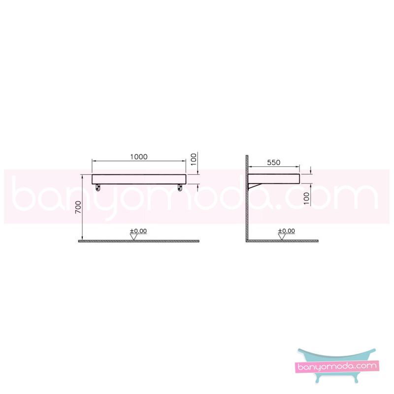 Vitra Options Lux Tezgah, 100 cm, Amerikan Ceviz - 52235 asma doğal kaplama estetiğin en yalın ve çarpıcı hali her boyutta banyoya uygun mobilya en uygun fiyatlarla Banyomoda'dan online satın alabilirsiniz.
