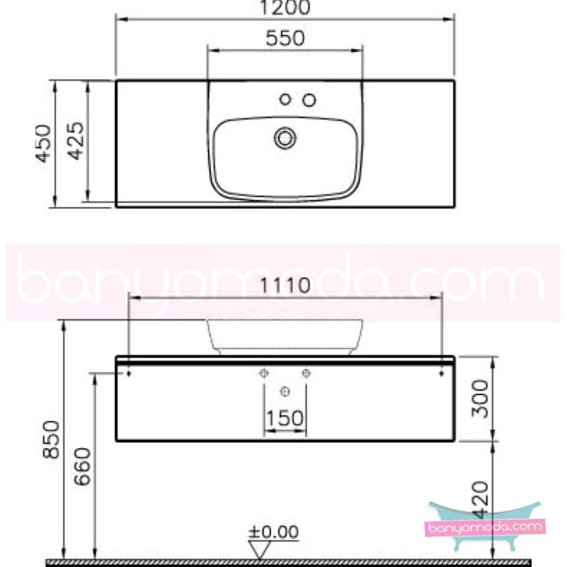 Vitra Shift Geniş Lavabo Dolabı (Sığ), 120 cm, Beyaz - 52558 asma termoform kaplama kulplu yavaş kapanır çekmeceli büyük banyo alanlarına ekleyeceğiniz ek ünitelerle banyonun fonksiyonelliği arttırın en uygun fiyatlarla Banyomoda'dan online satın alabilirsiniz.