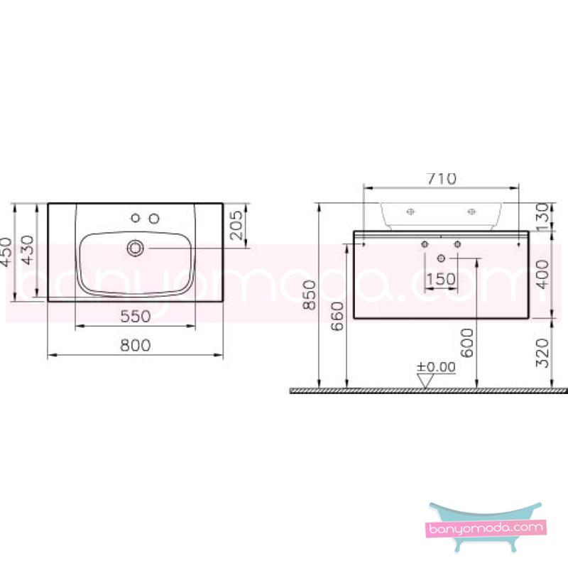 Vitra Shift Geniş Lavabo Dolabı (Derin), 80 cm, Beyaz - 52566 asma termoform kaplama kulplu yavaş kapanır çekmeceli büyük banyo alanlarına ekleyeceğiniz ek ünitelerle banyonun fonksiyonelliği arttırın en uygun fiyatlarla Banyomoda'dan online satın alabilirsiniz.