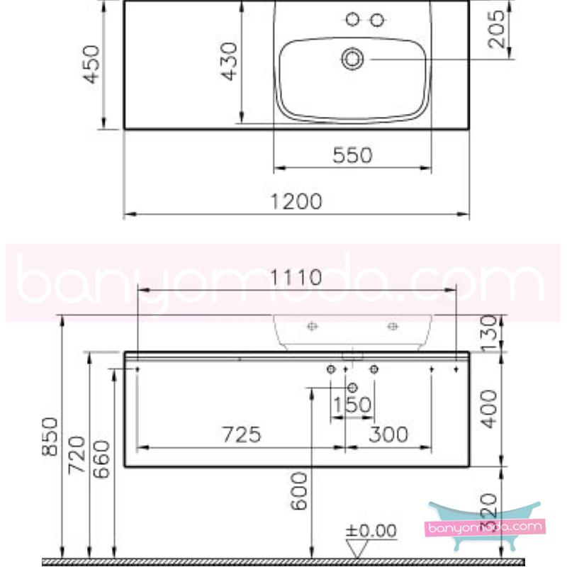 Vitra Shift Asimetrik Geniş Lavabo Dolabı (Derin), (Sağ), 120 cm, Beyaz - 52578 asma termoform kaplama kulplu yavaş kapanır çekmeceli büyük banyo alanlarına ekleyeceğiniz ek ünitelerle banyonun fonksiyonelliği arttırın en uygun fiyatlarla Banyomoda'dan online satın alabilirsiniz.