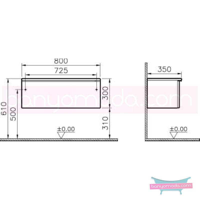 Vitra Shift Dar Alt Dolap (Sığ), 80 cm, Beyaz - 52612 yerden termoform kaplama kulplu yavaş kapanır çekmeceli büyük banyo alanlarına ekleyeceğiniz ek ünitelerle banyonun fonksiyonelliği arttırın en uygun fiyatlarla Banyomoda'dan online satın alabilirsiniz.