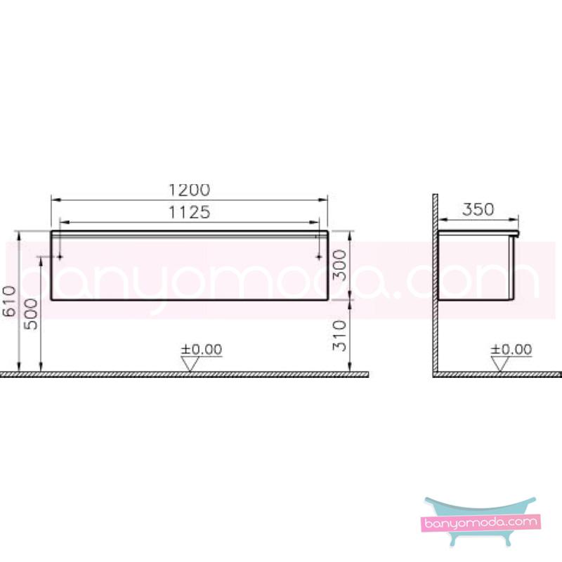 Vitra Shift Dar Alt Dolap (Sığ), 120 cm, Beyaz - 52616 yerden termoform kaplama kulplu yavaş kapanır çekmeceli büyük banyo alanlarına ekleyeceğiniz ek ünitelerle banyonun fonksiyonelliği arttırın en uygun fiyatlarla Banyomoda'dan online satın alabilirsiniz.