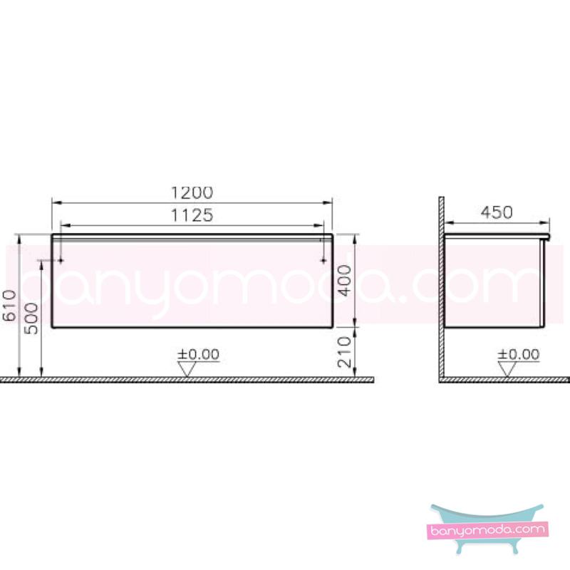 Vitra Shift Geniş Alt Dolap (Derin), 120 cm, Beyaz - 52675 yerden termoform kaplama kulplu yavaş kapanır çekmeceli büyük banyo alanlarına ekleyeceğiniz ek ünitelerle banyonun fonksiyonelliği arttırın en uygun fiyatlarla Banyomoda'dan online satın alabilirsiniz.