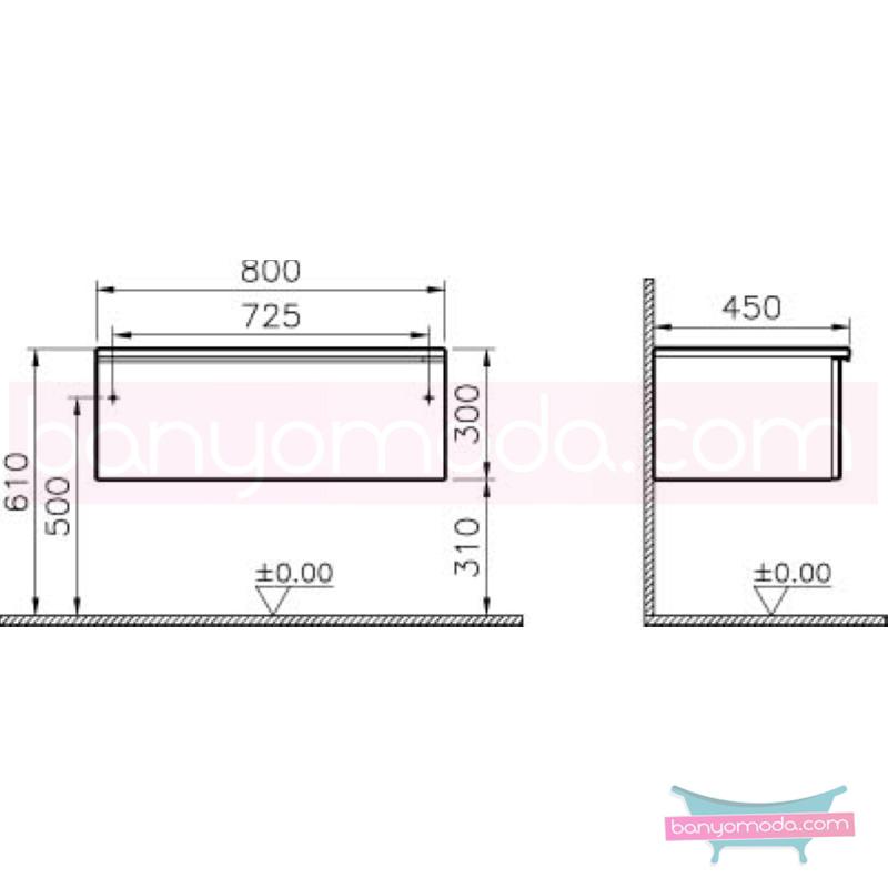 Vitra Shift Geniş Alt Dolap (Sığ), 80 cm, Beyaz - 52691 yerden termoform kaplama kulplu yavaş kapanır çekmeceli büyük banyo alanlarına ekleyeceğiniz ek ünitelerle banyonun fonksiyonelliği arttırın en uygun fiyatlarla Banyomoda'dan online satın alabilirsiniz.
