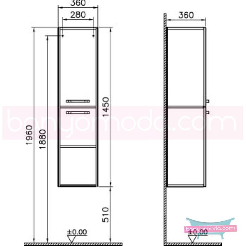 Vitra S50 Boy Dolabı (Sol), Beyaz - 52756 asma termoform kaplama kulplu yavaş kapanır yüksek kalite uzun ömür ve estetik görünümün yanında uygun fiyatlı mobilya en uygun fiyatlarla Banyomoda'dan online satın alabilirsiniz.