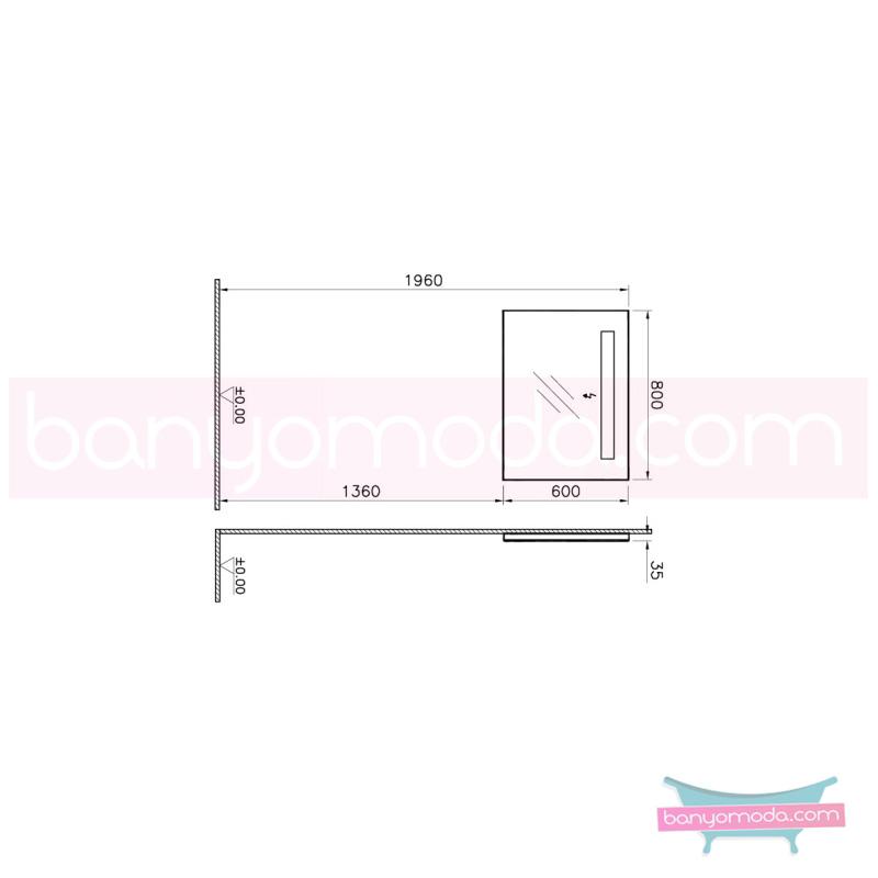 Vitra S50 Ayna, 80 cm, Beyaz - 52760 asma yüksek kalite uzun ömür ve estetik görünümün yanında uygun fiyatlı mobilya en uygun fiyatlarla Banyomoda'dan online satın alabilirsiniz.