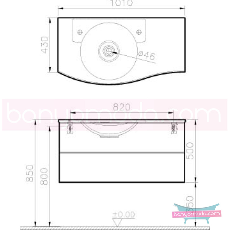 Vitra Aqua Lavabo Dolabı (Sol), 100 cm, Hasiente Beyaz - 53118 asma termoform kaplama yavaş kapanır kulpsuz çekmeceli dalgalı formu ve geniş saklama alanı sunan banyo mobilyası en uygun fiyatlarla Banyomoda'dan online satın alabilirsiniz.