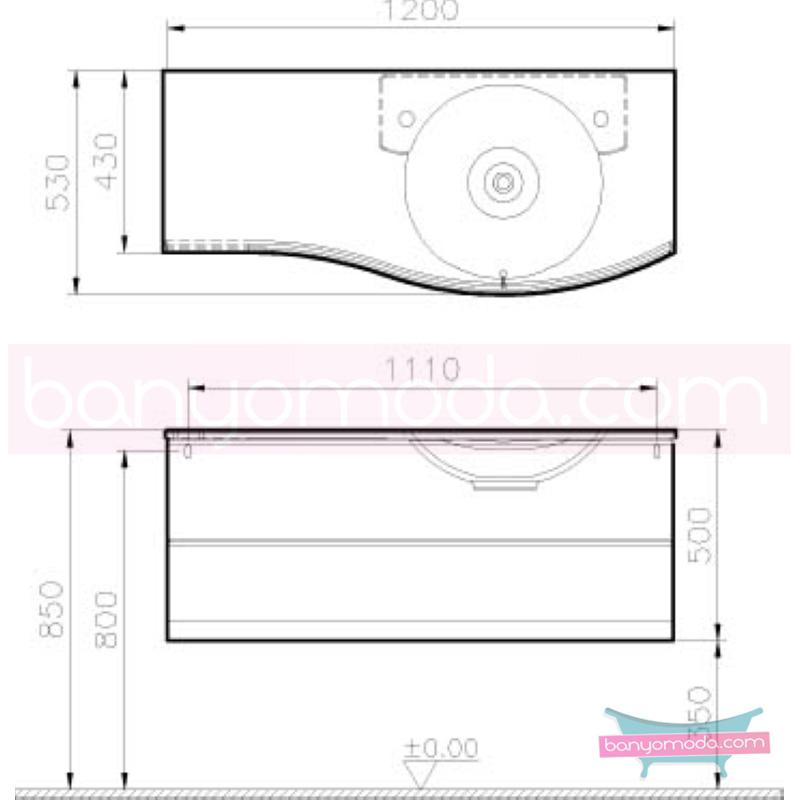 Vitra Aqua Lavabo Dolabı (Sağ), 120 cm, Hasiente Beyaz - 53124 asma termoform kaplama yavaş kapanır kulpsuz çekmeceli dalgalı formu ve geniş saklama alanı sunan banyo mobilyası en uygun fiyatlarla Banyomoda'dan online satın alabilirsiniz.