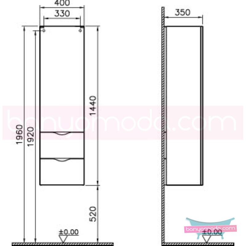 Vitra Aqua Boy Dolabı (Sol), Hasiente Beyaz - 53134 asma termoform kaplama bas aç kapa yavaş kapanır yavaş kapanır kulpsuz çekmeceli dalgalı formu ve geniş saklama alanı sunan banyo mobilyası en uygun fiyatlarla Banyomoda'dan online satın alabilirsiniz.
