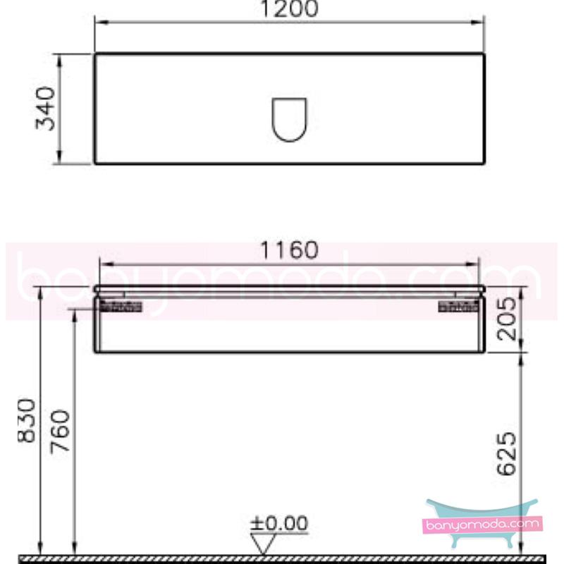 Vitra System Fit Dar Lavabo Dolabı (Sığ), 120 cm, Parlak Beyaz, Shift Kulp - 53258 asma termoform kaplama kulplu yavaş kapanır çekmeceli vitra'nın tasarım ve teknoloji gücü banyo mobilyalarında sonsuz seçenek yaratıyor en uygun fiyatlarla Banyomoda'dan online satın alabilirsiniz.