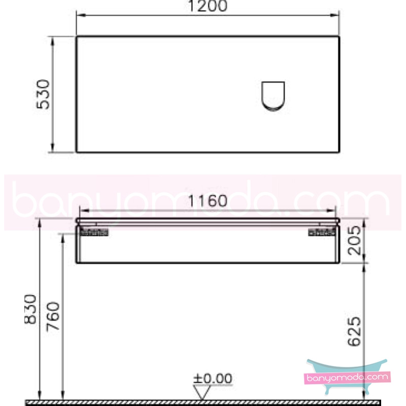 Vitra System Fit Geniş Lavabo Dolabı (Sığ), (Sağ), 120 cm, Parlak Beyaz, Shift Kulp - 53481 asma termoform kaplama kulplu yavaş kapanır çekmeceli vitra'nın tasarım ve teknoloji gücü banyo mobilyalarında sonsuz seçenek yaratıyor en uygun fiyatlarla Banyomoda'dan online satın alabilirsiniz.